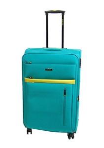 Travelite Notebook Koffer mit Rollen, aqua/citron (Blau)