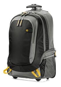 Rucksack mit Rollen - HP (J6X32AA) Rollen-Rucksack (für Notebooks, Laptops, mit höhenverstellbaren Griff) 39,62 cm (15,6 Zoll) schwarz/grau