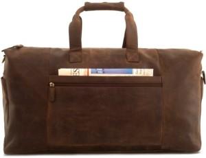 Reisetasche mit Rollen - LEABAGS Sydney Reisetasche aus echtem Büffel-Leder im Vintage Look - Muskat