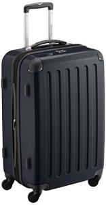 Koffer mit Rollen - HAUPTSTADTKOFFER - Alex - Koffer Hartschale Schwarz glänzend, 65 cm, 74 Liter