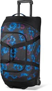 Reisetasche mit Rollen - DAKINE Damen Reisegepäck Womens Wheeled Duffle 90 Liters, Blue Flowers, 76 x 41 x 39 cm, 8350004
