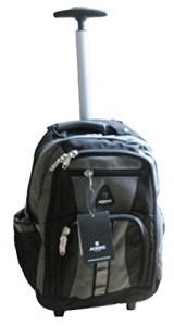 Schulranzen mit Rollen - Schultrolley Rucksack Trolley Schulrucksack Ranzen verschiedene Farben (schwarz-grau)